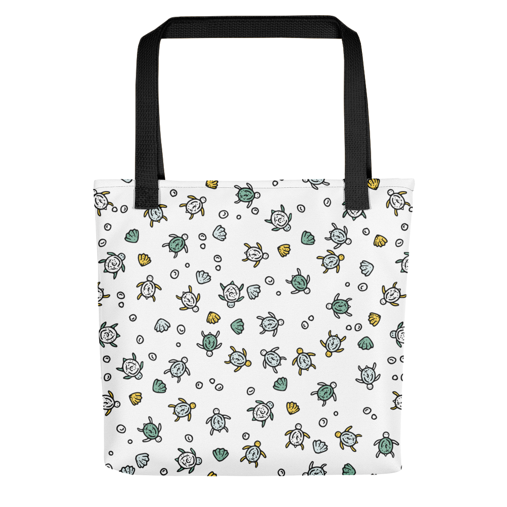 Hand-drawn Sea Turtles - White Tote Bag