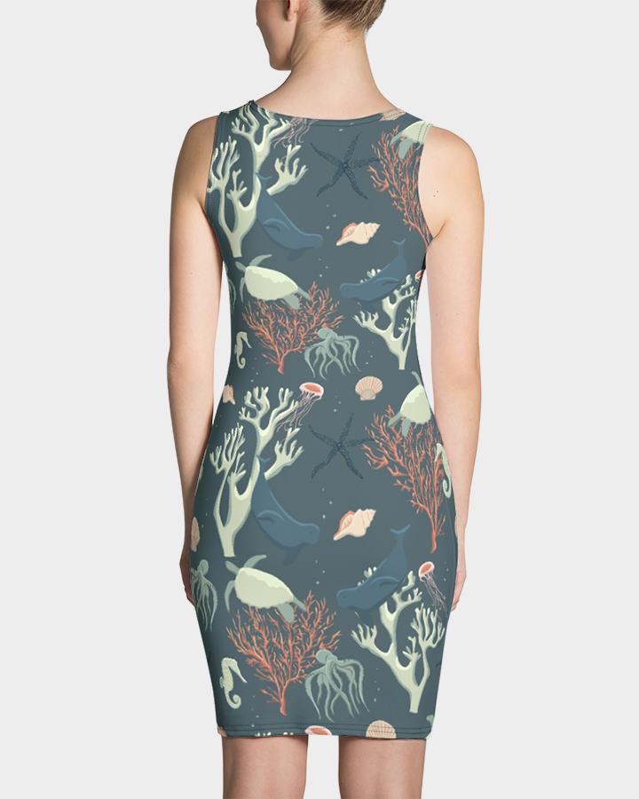 Sea Life and Turtles Dress