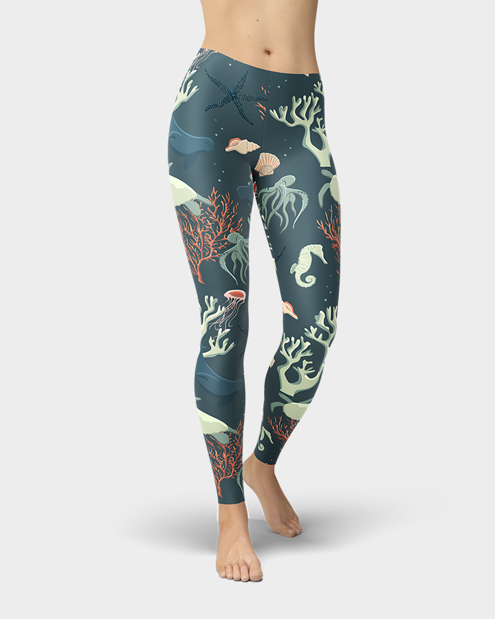 Sea Life and Turtles Leggings
