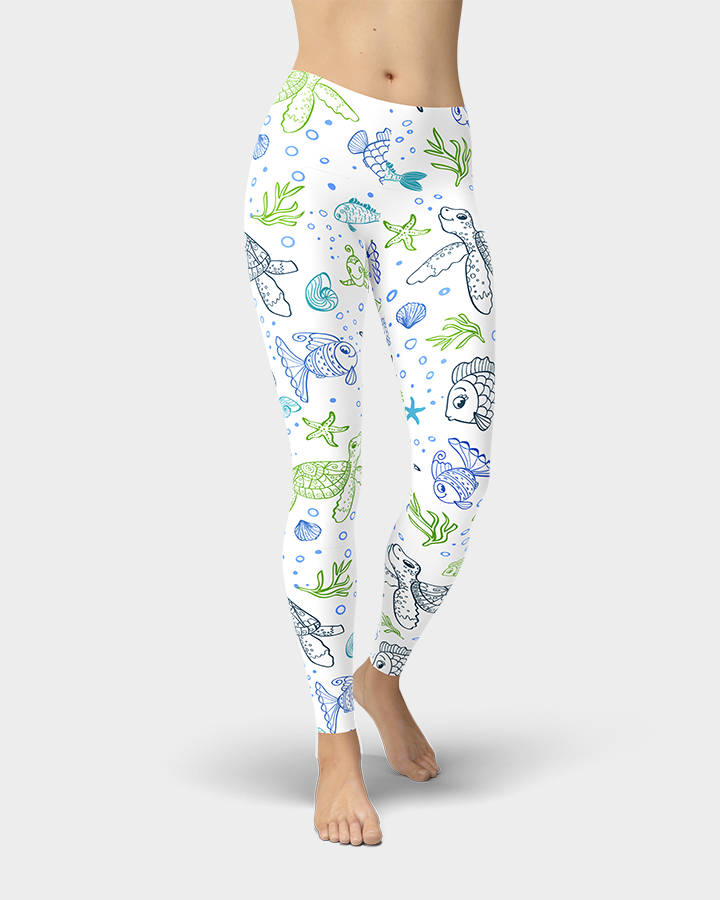 Sea Turtles and Fish Leggings