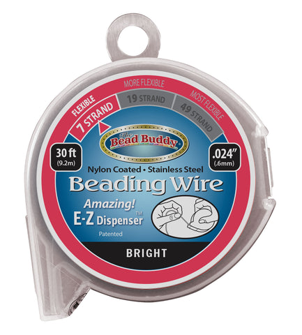 "7 Strand Beading Wire, .024"" Bright"