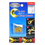 4mm Gold Crimp Covers