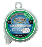 49 Strand Beading Wire, Satin Silver 15ft .015""