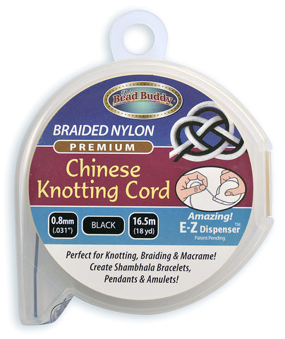 Chinese Knotting Cord .8mm Black