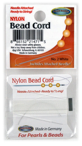 Nylon Bead Cord #2 White