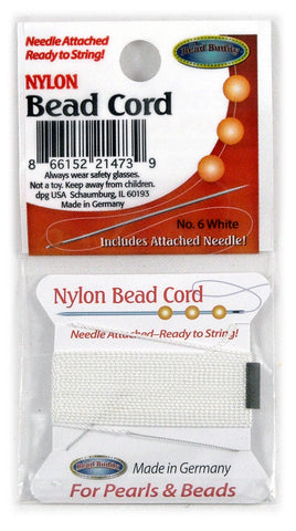 Nylon Bead Cord #6 White