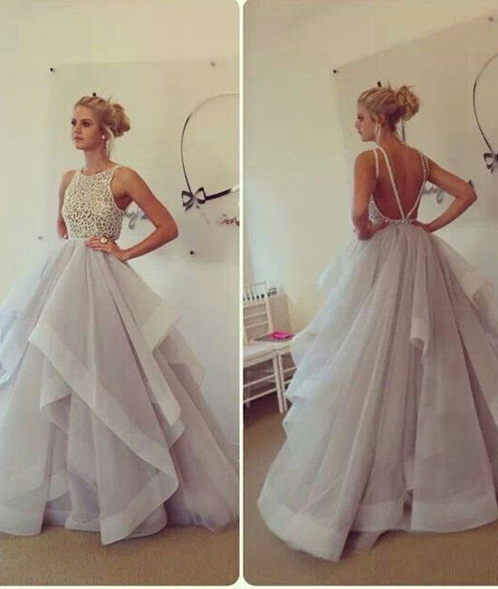 Custom Made Round Neck Prom Dresses, Prom Gown, Evening Dresses