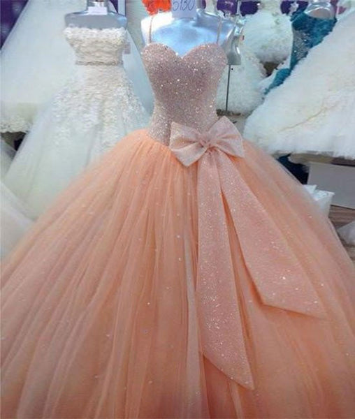 Custom Made Sweetheart Neck Sequins Prom Dresses, Formal Dresses
