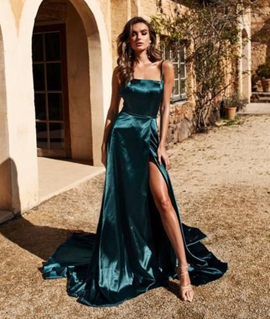 Cheap Short Halter Dark Green Bridesmaid Cocktail Dresses ...