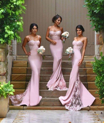 Pink Lace Prom Dresses, Lace Formal