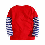 Boys Long Sleeved Frog Tee With Zipper And Stripes