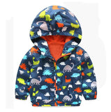 Dinosaur Windbreaker For Little Boys - Adorable!