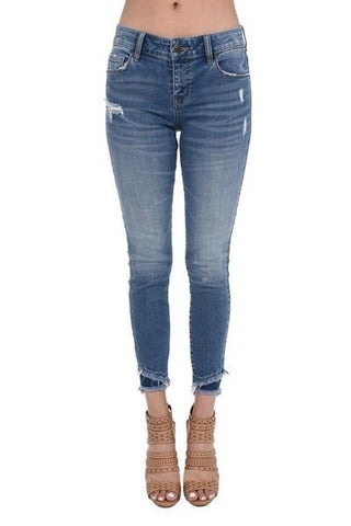 Josie Mid Rise Skinny Cropped Jeans