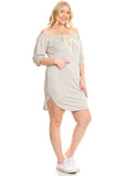 Off-The-Shoulder, Short Dress In A Bodycon Fit With A Front