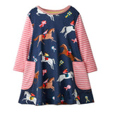 Girls Long Sleeve Ribbon Winner Dress