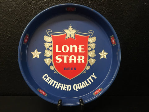 Lone Star Beer Serving Tray Metal Vintage 1954-1957 Certified San Antonio Texas