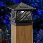 Moonrays 91196 Caswell-Style Solar Powered Led Post Cap Light, Black