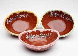 Appletree Design Life Is Sweet Ice Cream Bowl Set, 6-3/8 By 5-Inch