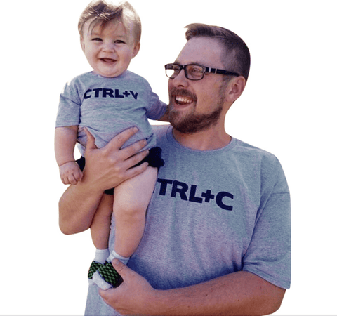 Ctrl+C and Ctrl+V - Family Graphic Tee Set - Mommy and Me or Daddy and Me Tees  Ctrl+C Parent Graphic Tee - Mommy and Me or Daddy and Me Tees  and   Ctrl+V Child Graphic Tee - Mommy and Me or Daddy and Me Tees