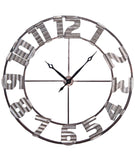 Foreside Asheville Corrugated Wall Clock, X-Large, Silver