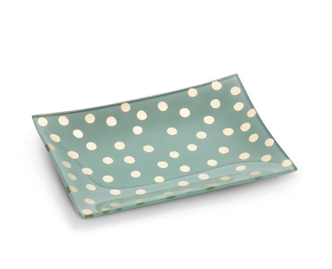 Abbott Collection Rectangle Plate With Dots