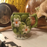 Inarco 1967 E2866 green apple & daisy coffee mug
