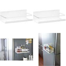 Plate Magnetic Spice Rack White