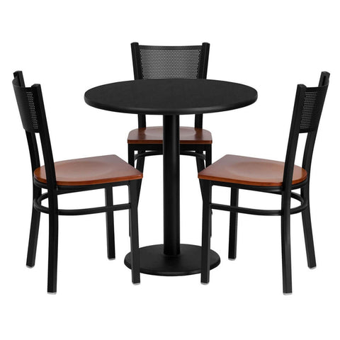 Messina 30 Inch Round Small Bistro Set