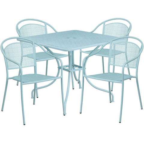 Panini 35.5 Inch French Bistro Patio Set with 4 Chairs