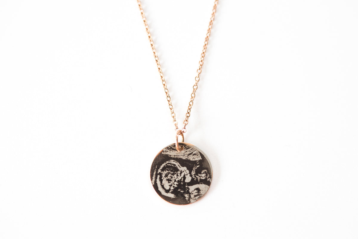 Engraved Ultrasound Necklace