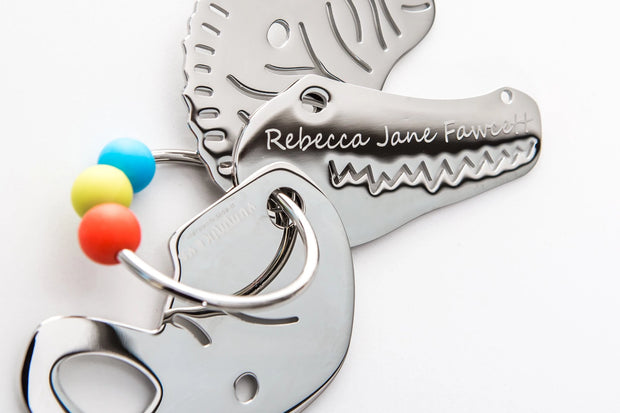 ** PRE ORDERS ONLY ** Yummikeys Engraved - Stainless Steel Teething Keys - Yummikeys