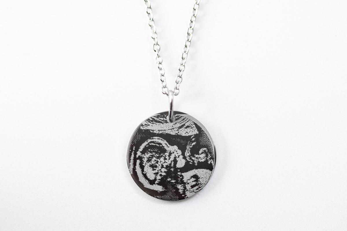 Engraved Ultrasound Disc - WITHOUT CHAIN