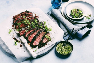 P-Town Keto Coffee Steak With Salsa Verde