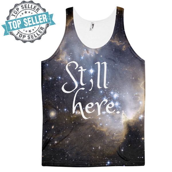 """Still Here"" Semicolon Galaxy Sleep Shirt - Pretty Crazy Co."