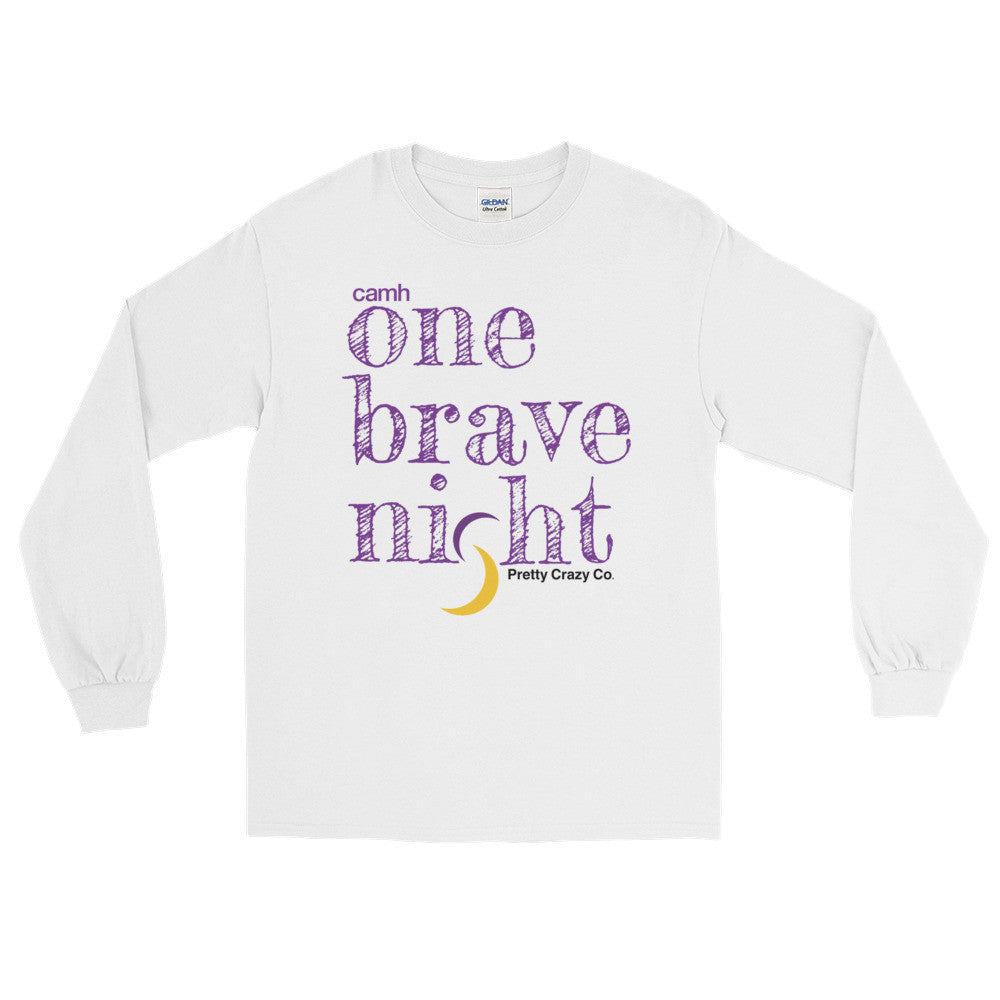 CAMH One Brave Night™ For Mental Health White Long Sleeve T-Shirt - Pretty Crazy Co.