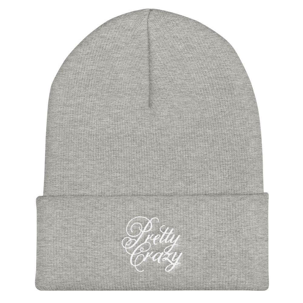 "Pretty Crazy ""Royal Font"" Logo Unisex Cuffed Beanie - Pretty Crazy Co."