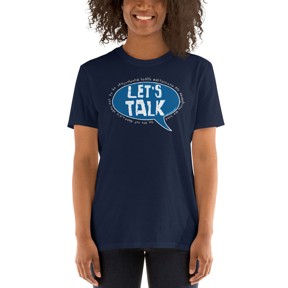 Bell Let's Talk Day Unisex Navy Blue T-Shirt - Pretty Crazy Co. - Pretty Crazy Co.