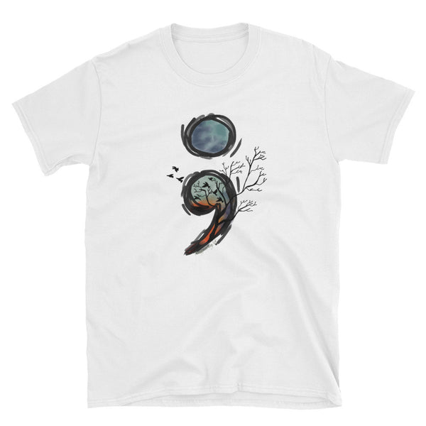 Semicolon Awareness Unisex T-Shirt - Pretty Crazy Co.