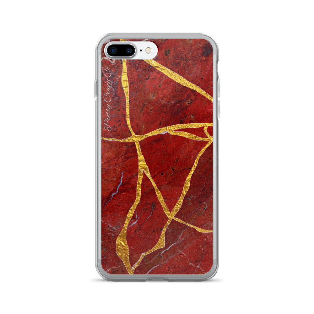"Kintsukuroi/Kintsugi ""Gold Repair"" Marble iPhone Case (iPhone 7/7 Plus Case) - Pretty Crazy Co."