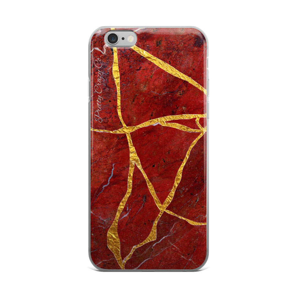"Kintsukuroi/Kintsugi ""Gold Repair"" Marble iPhone Case (5/5s/Se, 6/6s, 6/6s Plus) - Pretty Crazy Co."