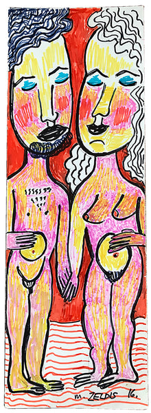 """Adam and Eve"" by Malcah Zeldis"