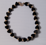 Black and gold heart bracelet
