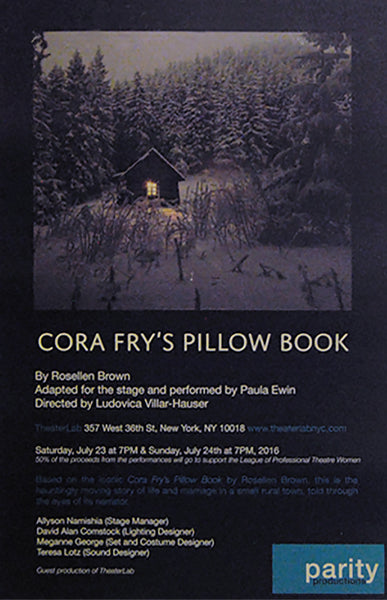 "Parity Productions' Exclusive ""Cora Fry's Pillow Book"" Poster (Unsigned)"