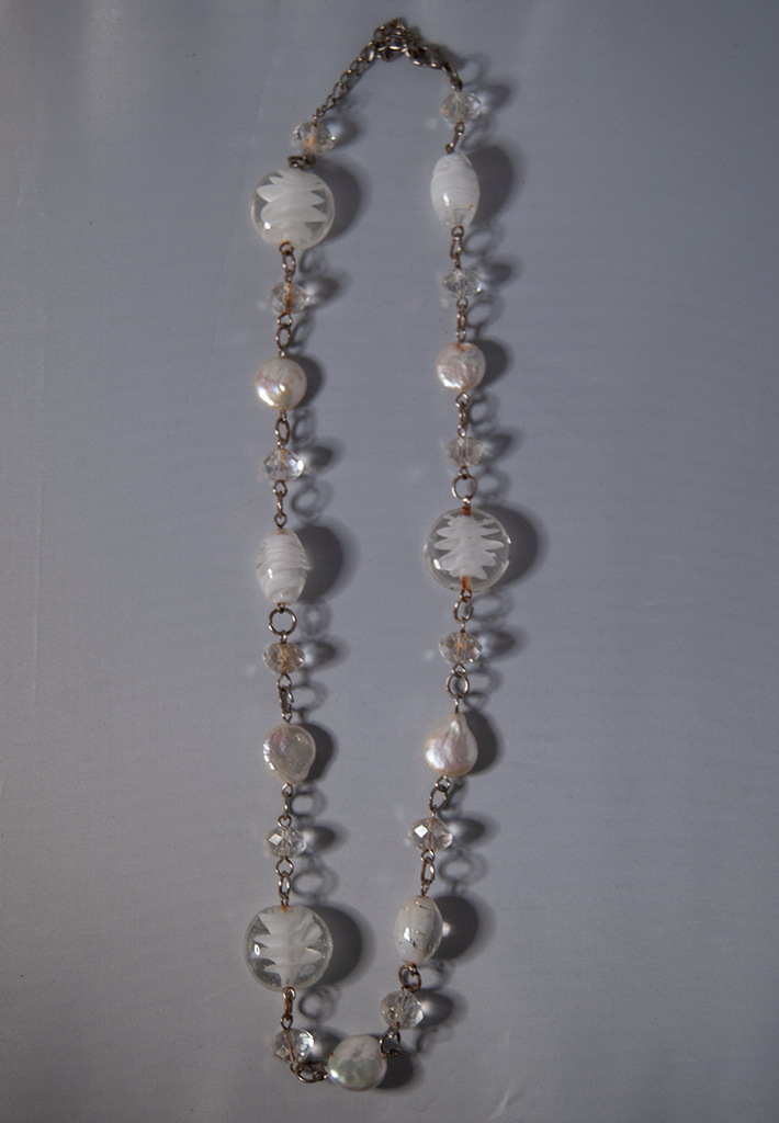 Crystal and shell necklace