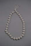 White crochet bead necklace