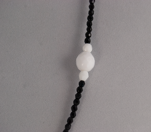 Black and white beaded necklace