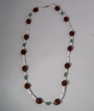 Glass multi-bead necklace