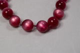 Red glass bead necklace