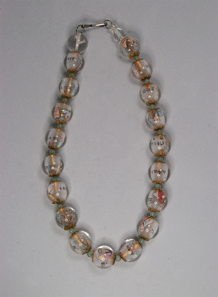 Buddha glass bead necklace