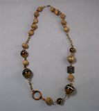 Earth-toned multi-bead necklace